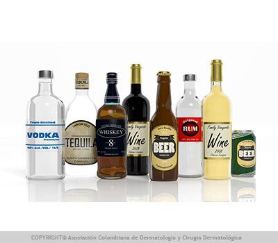 Alcohol y acné